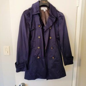 Forever 21 Purple Blue rain trench coat S/P